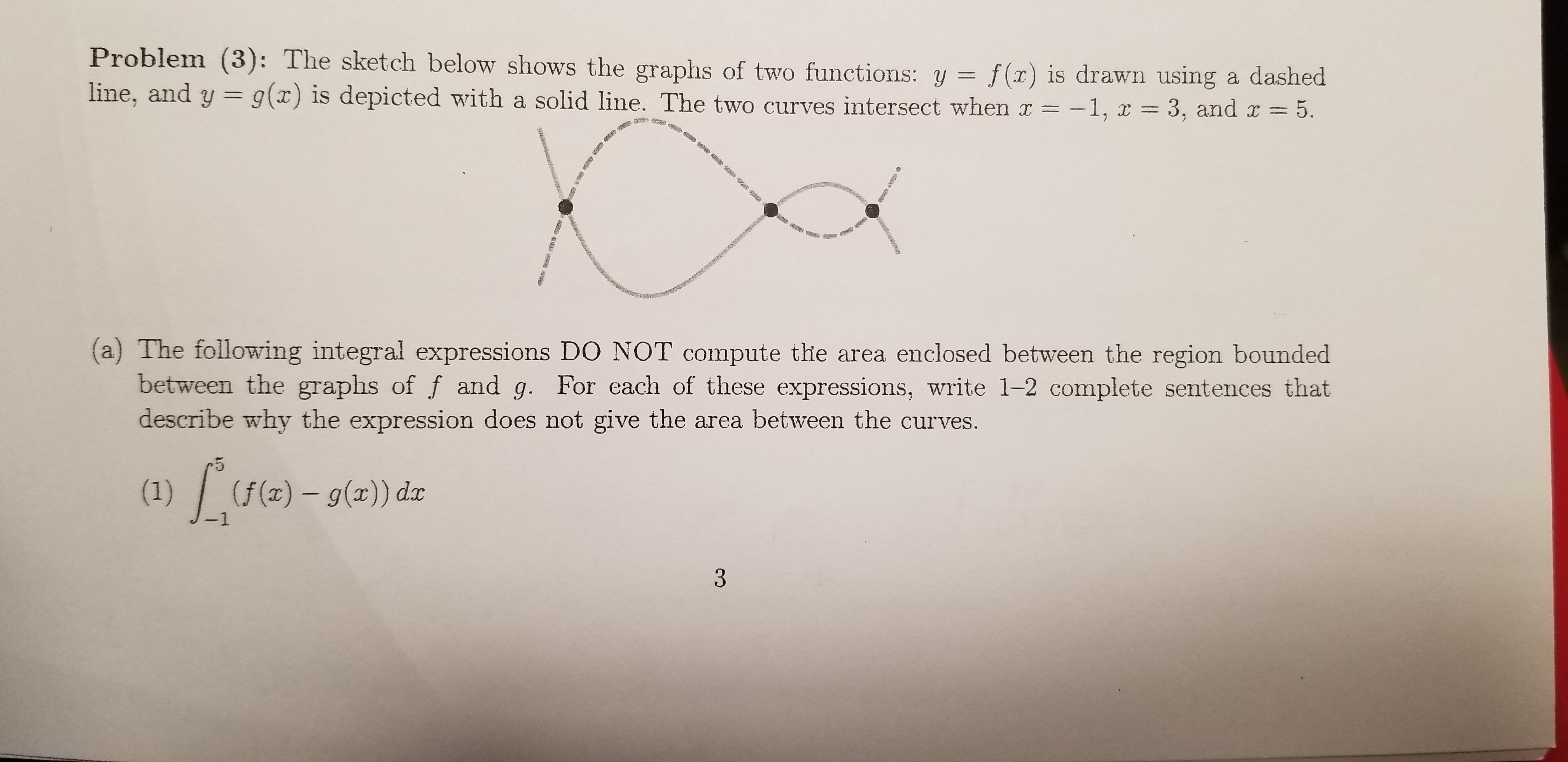 Answered Problem 3 The Sketch Below Shows The