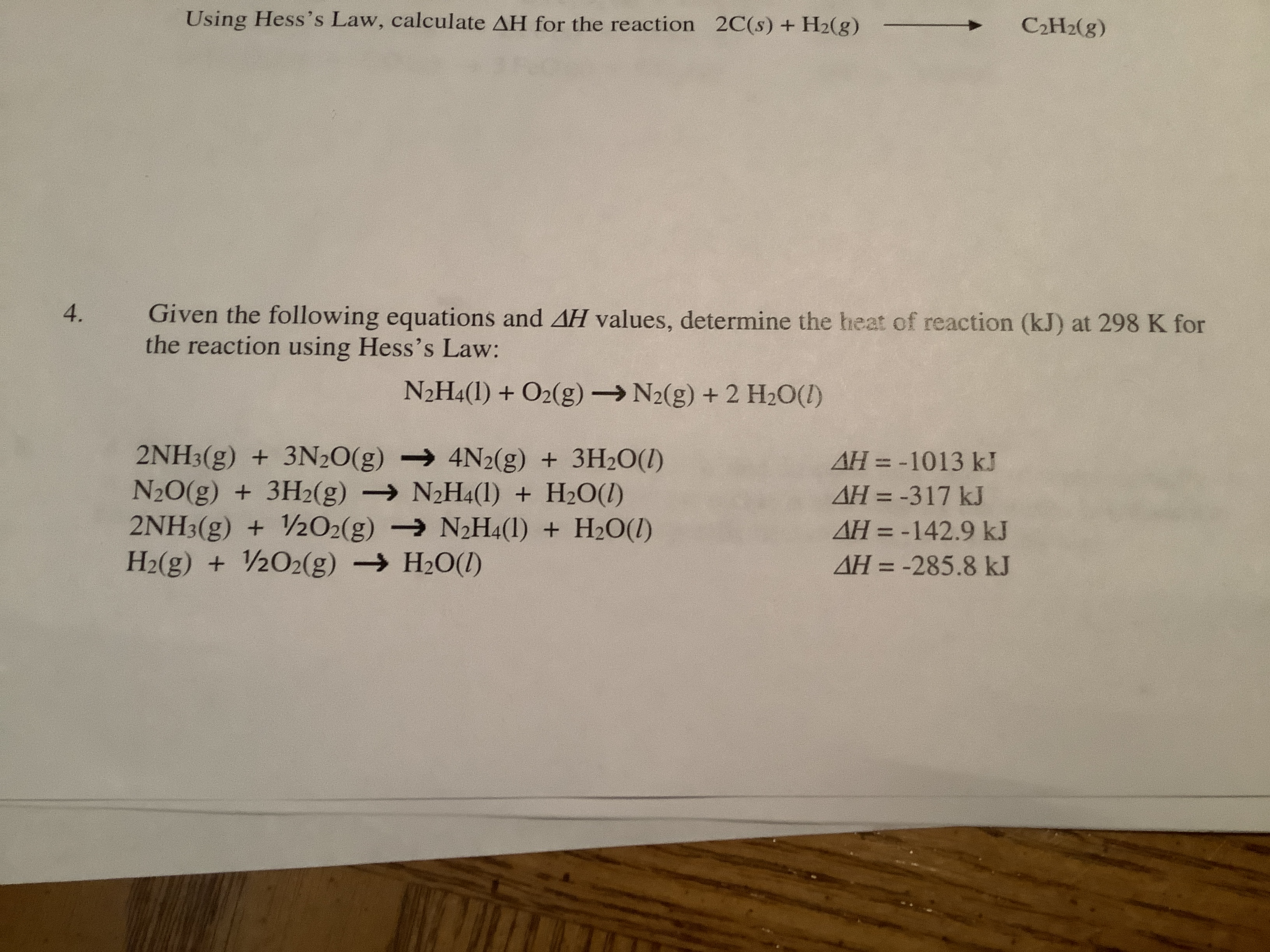 Answered Using Hess S Law Calculate Ah For The