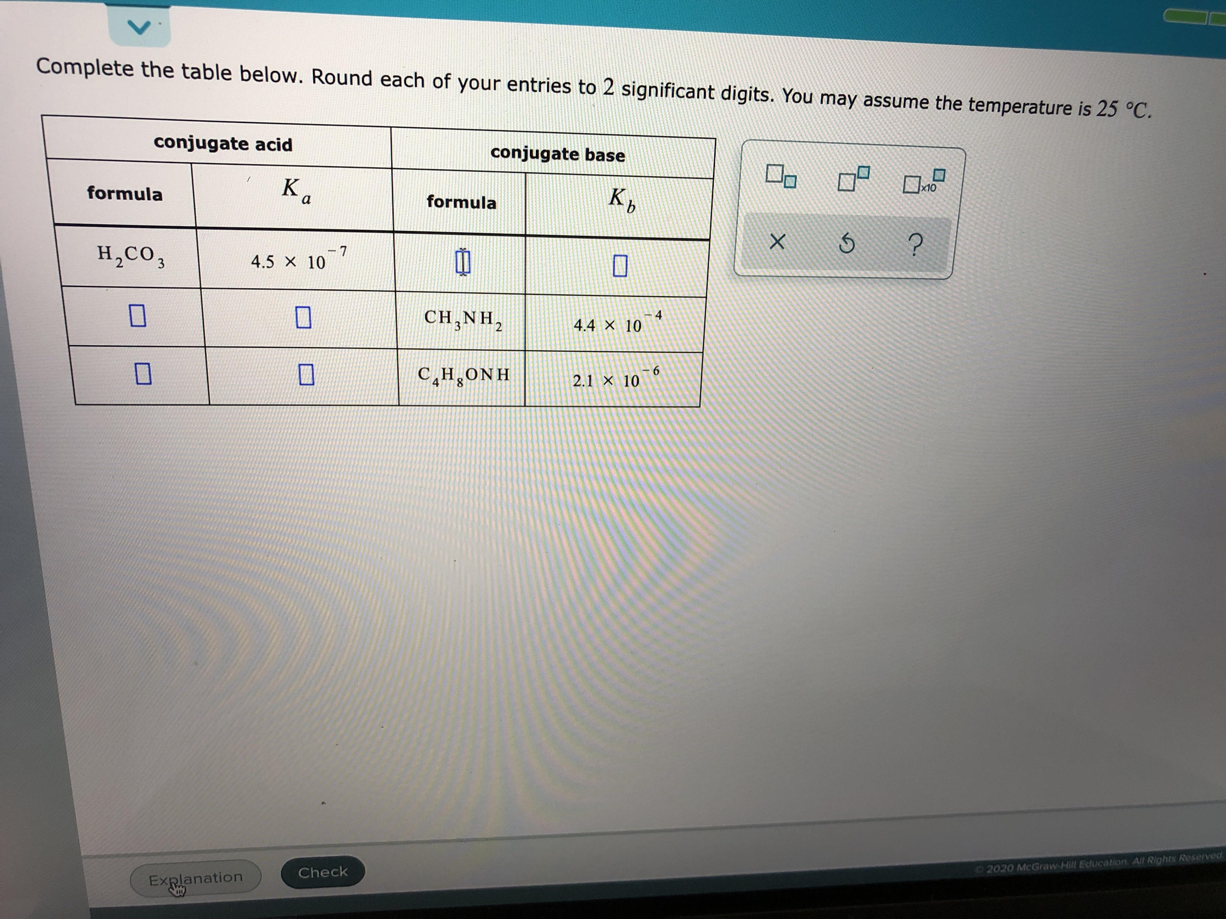 Answered Conjugate Acid Conjugate Base Ka K