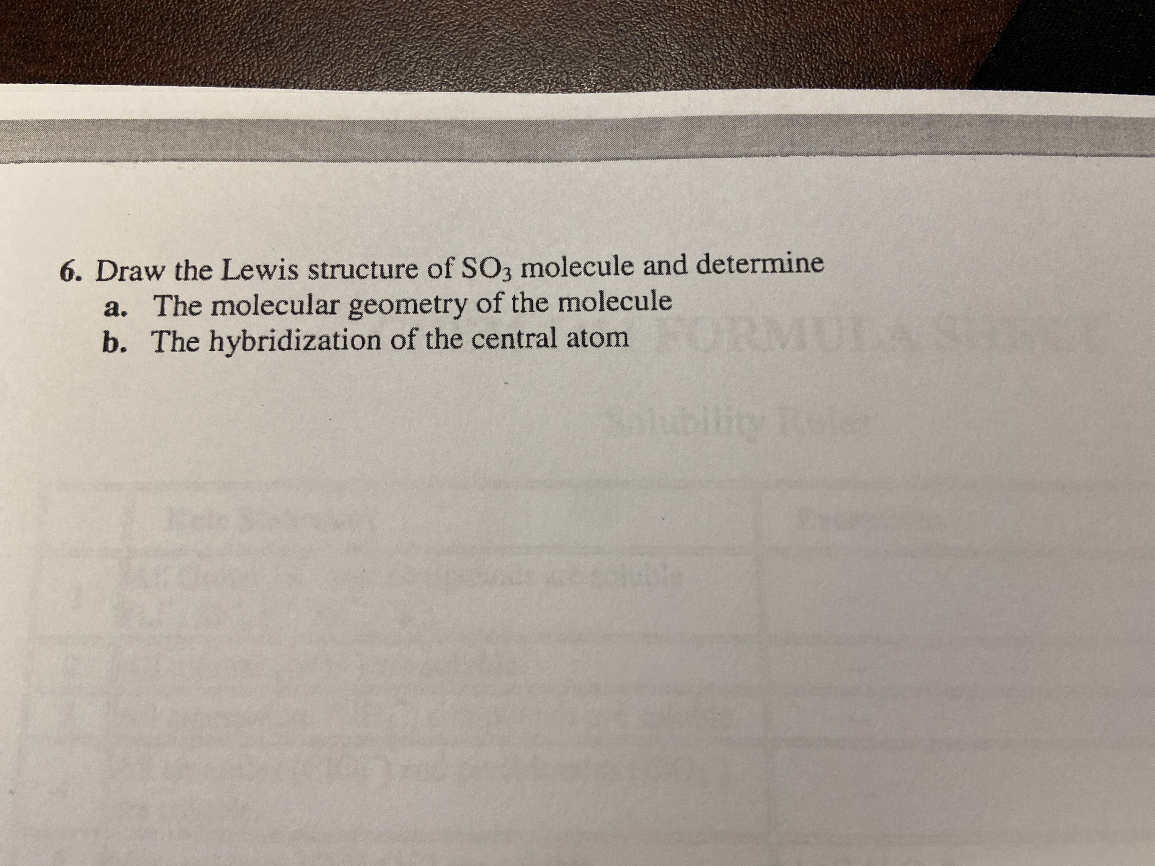 Answered 6 Draw The Lewis Structure Of So3