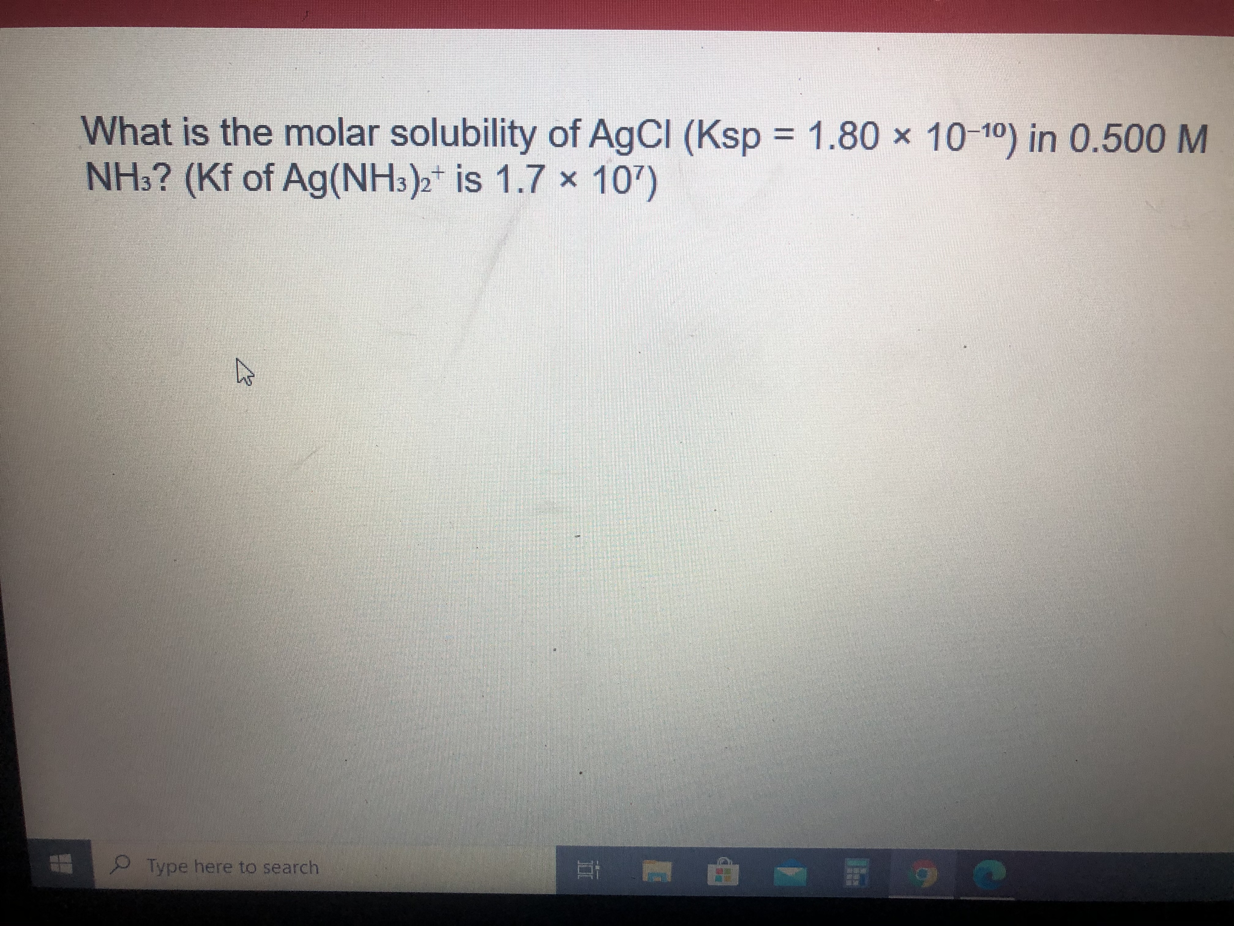 Answered What Is The Molar Solubility Of Agci