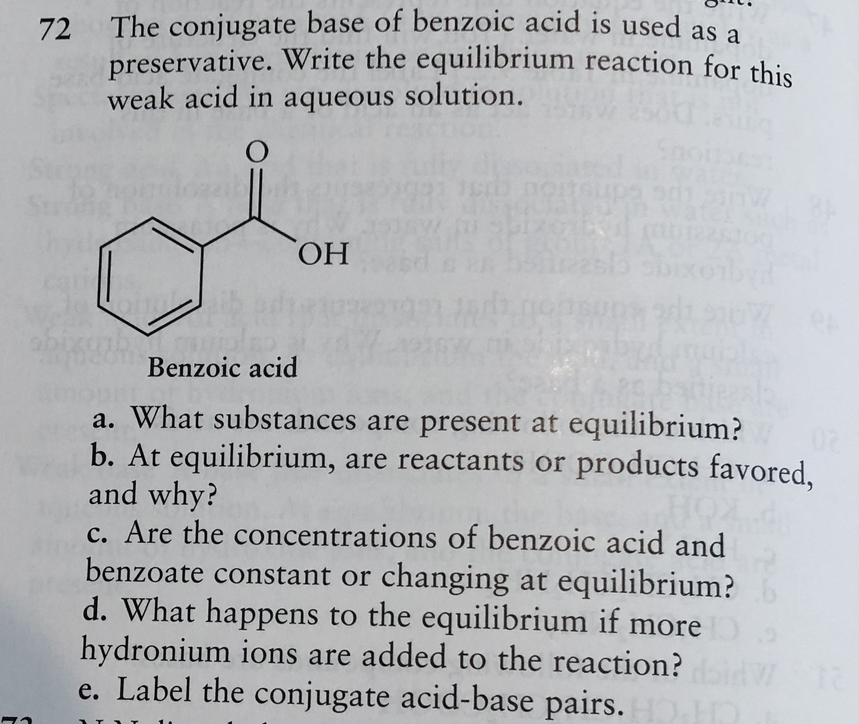 Answered The Conjugate Base Of Benzoic Acid Is