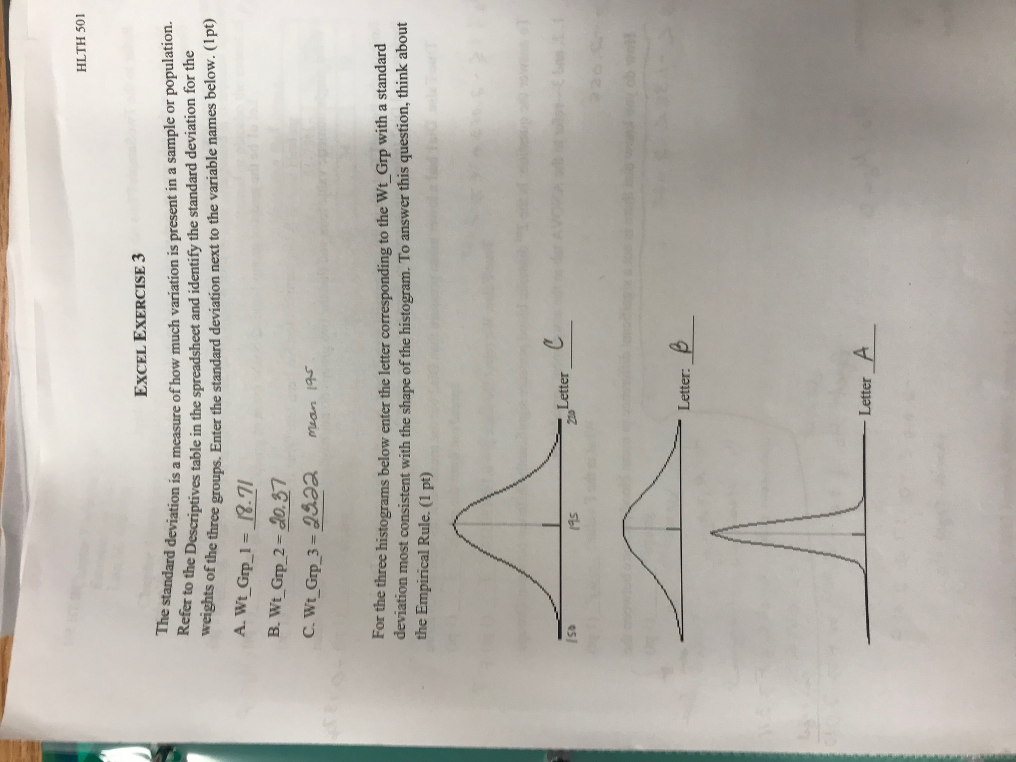 Answered Hlth 501excel Exercise 3the