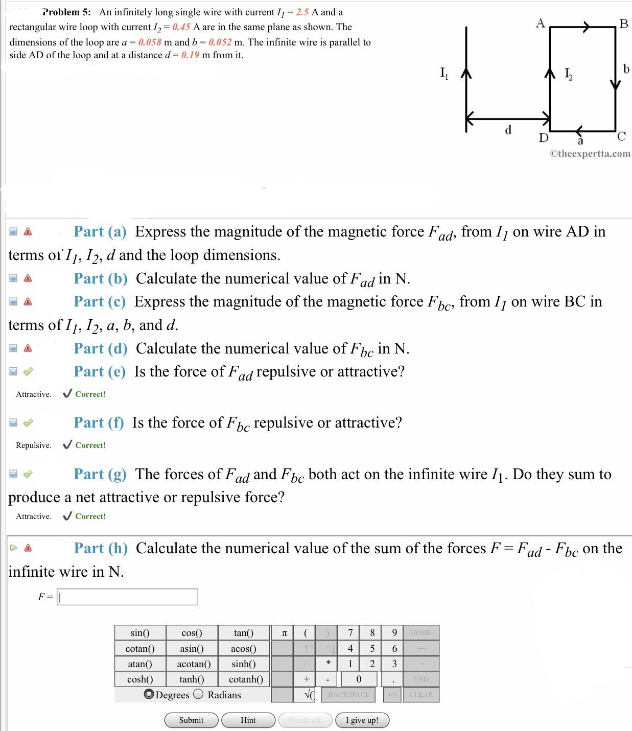 Answered Problem 5 An Infinitely Long Single