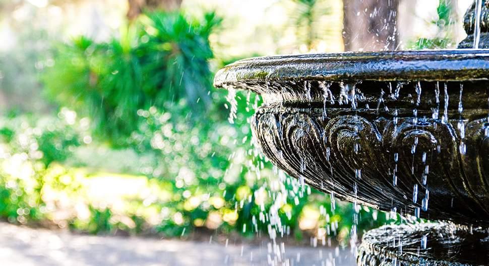 fontaine de jardin fonctionnelle ou