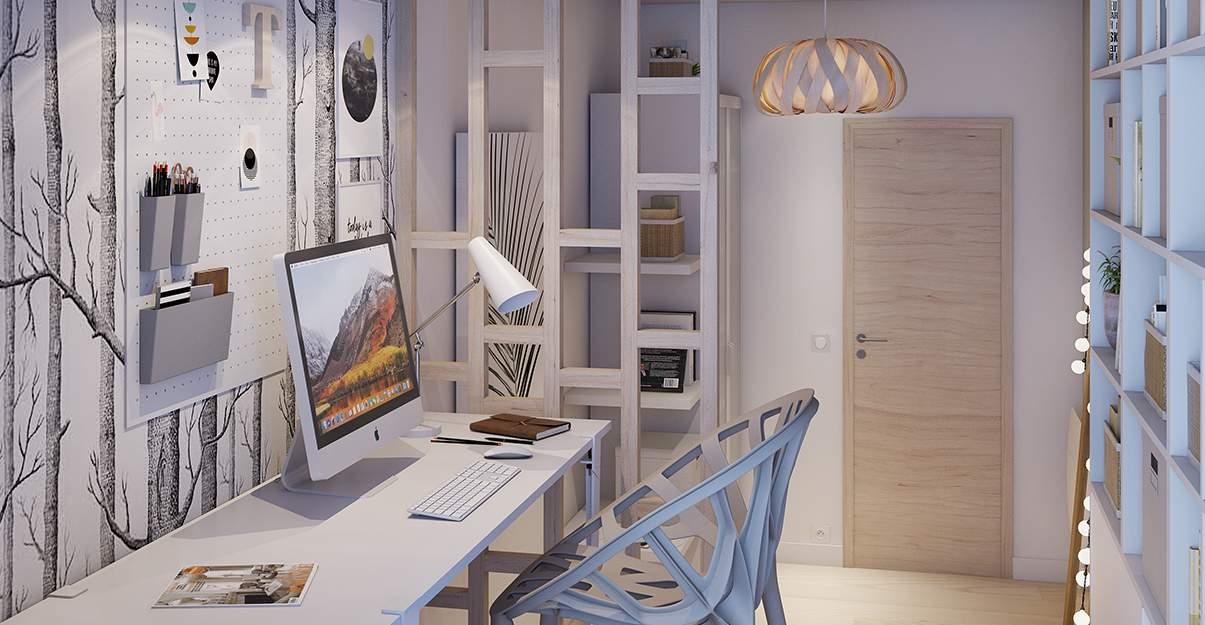 chambre avec un espace de travail