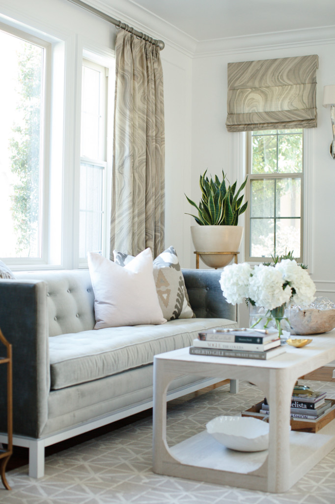 Modern Velvet Couch Living Room becki owens