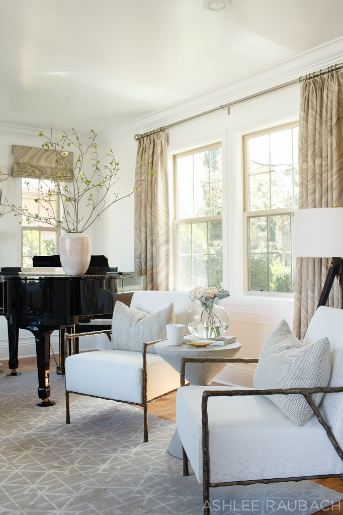 becki owens blog modern living room with bernhardt chairs and piano