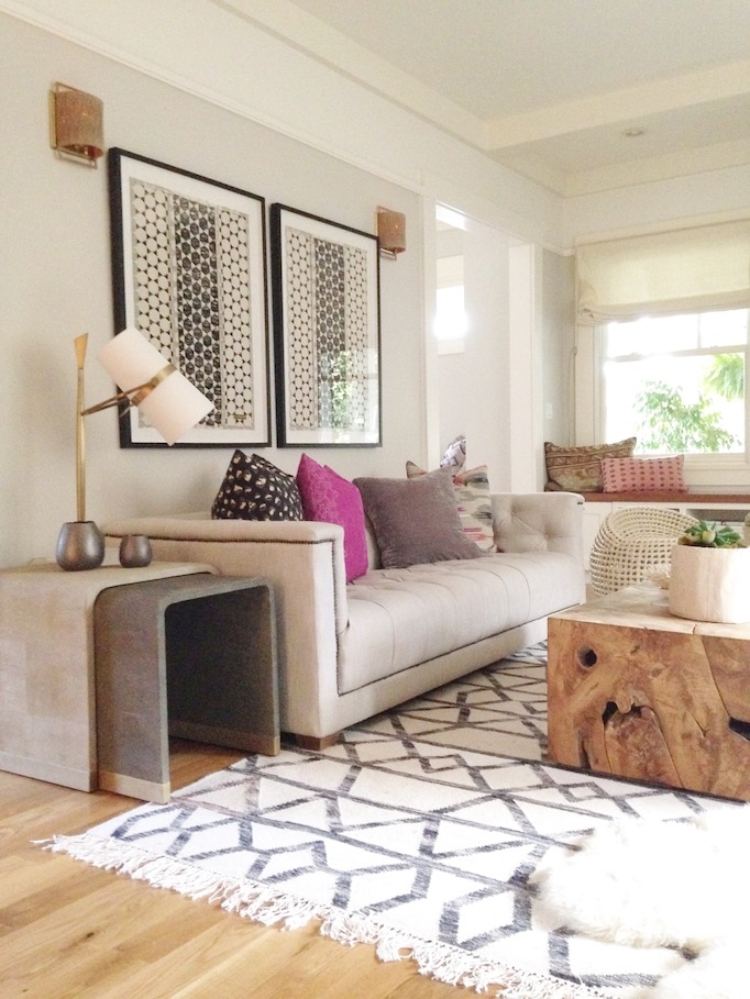 Modern Bohemian Living Room Owens and Davis