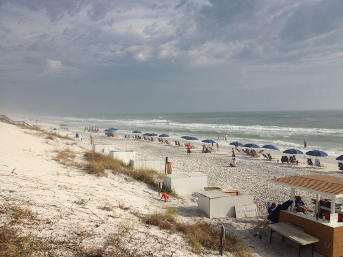 seaside florida watercolor beach vacation