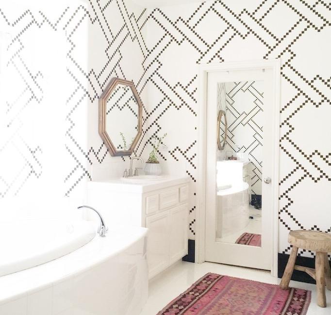 Becki Owens Bathroom black and white bathroom
