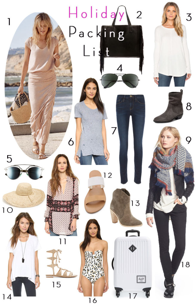 Holiday Packing List Becki Owens