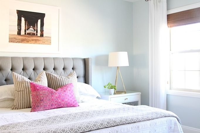 Gray Coastal Guest Bedroom Becki Owens
