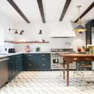 Navy, White and Brass Kitchen