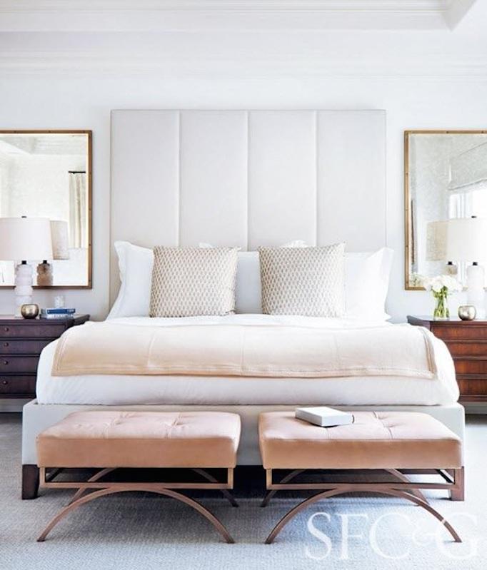 refined master bedroom