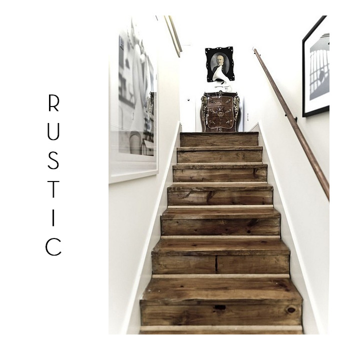 rustic staircase barn door