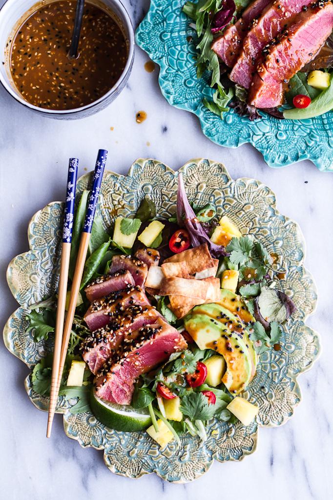Seared-Ahi-Tuna-Poke-Salad-with-Hula-Ginger-vinaigrette-+-Wonton-Crisps.-13