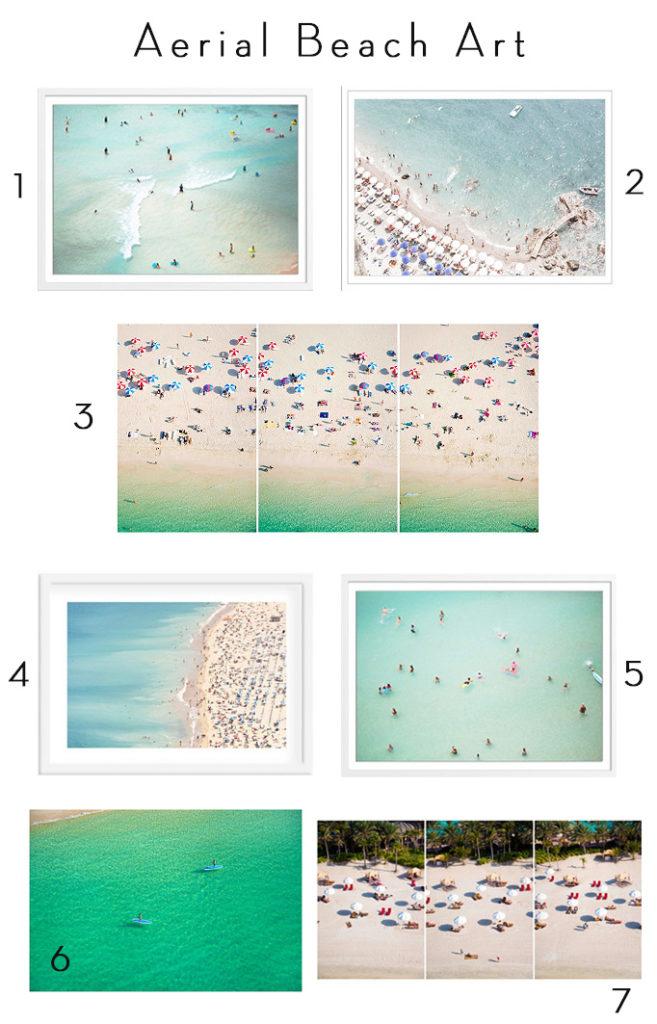 Aerial Beach Art