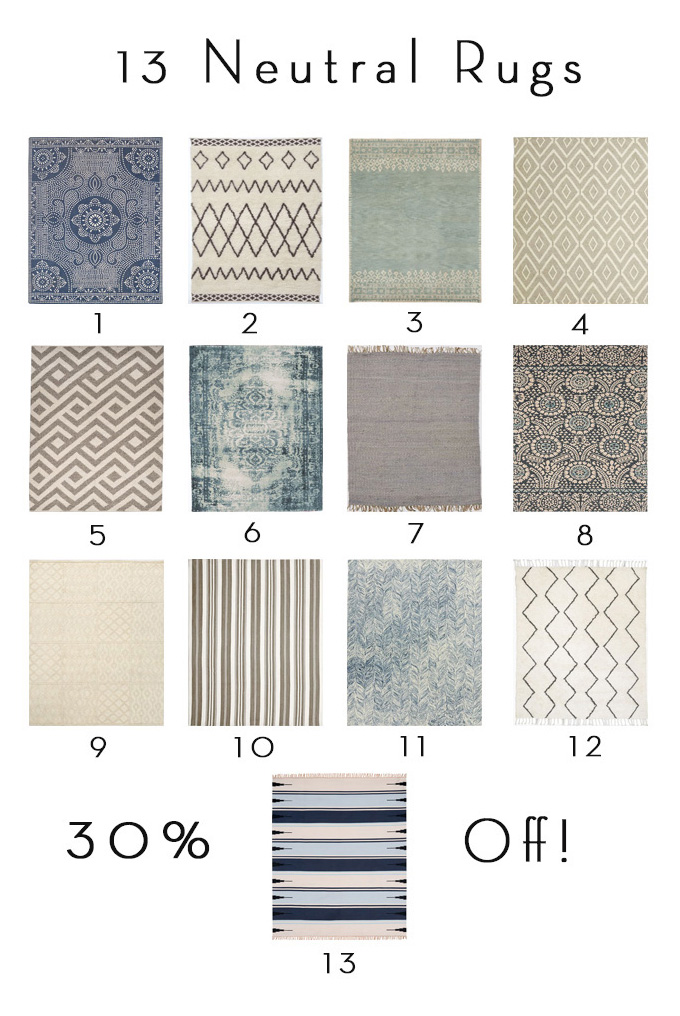 Neutral Rugs Sale