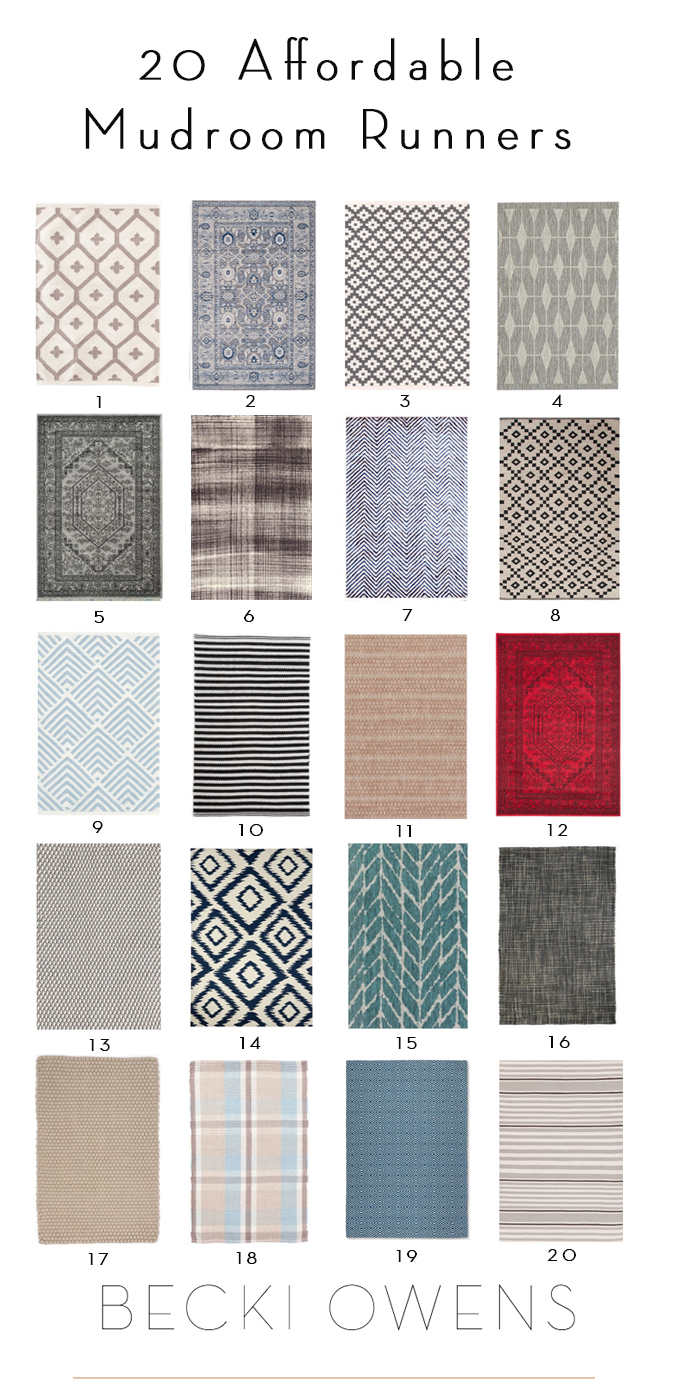20 affordable mudroom rugs