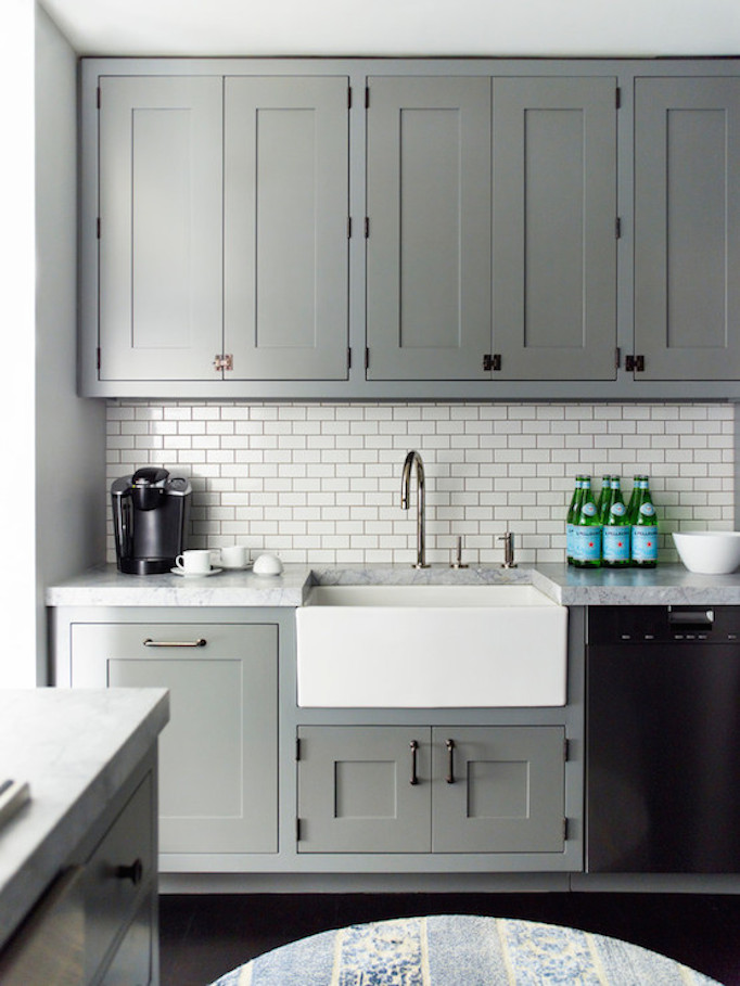 gray cabinetry kitchen