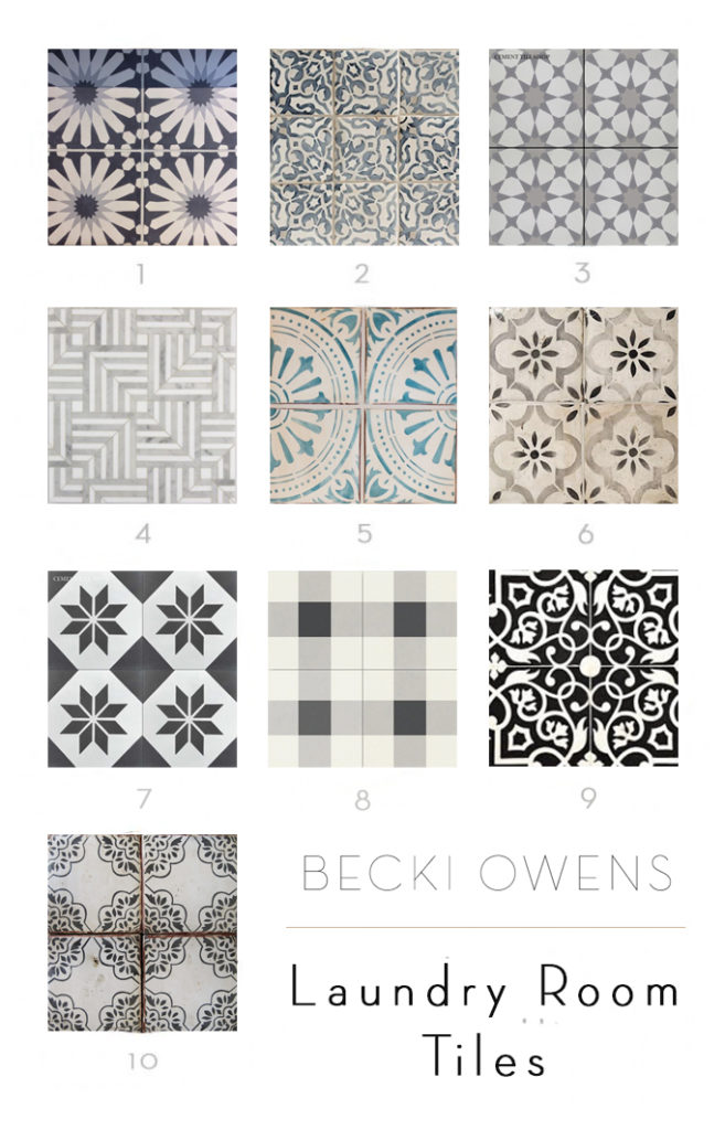 laundry room tiles becki owens