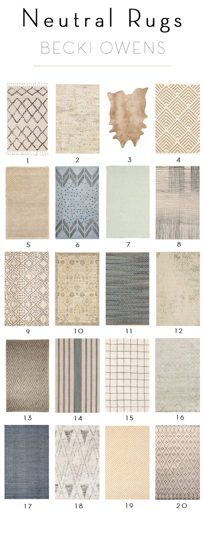 Neutral Rug Sale
