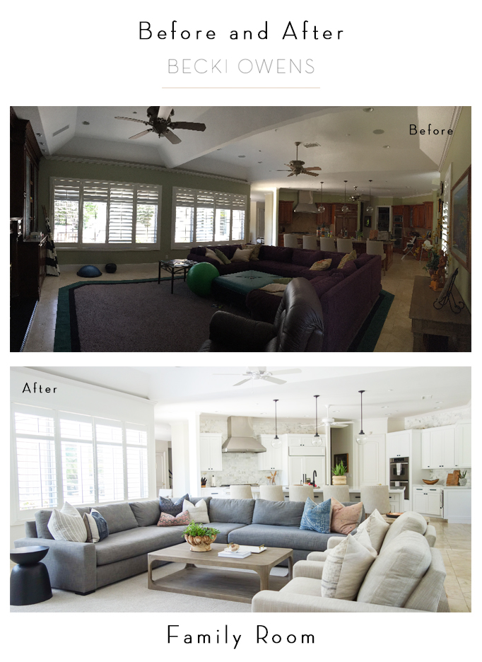 before and after family room becki owens
