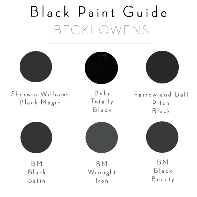 black paint guide becki owens