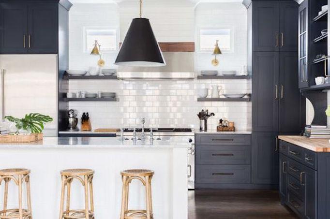 BECKI OWENS Black and White Kitchen Nashville