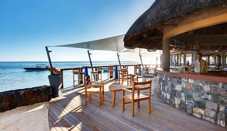 A bar at Heritage Awali resort in Mauritius