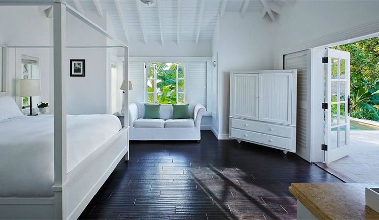 One of the luxurious rooms at Sugar Beach resort, St Lucia.