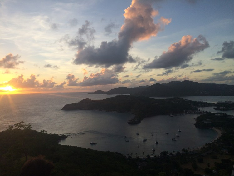 View of English Harbour from Shirley Heights in Antigua