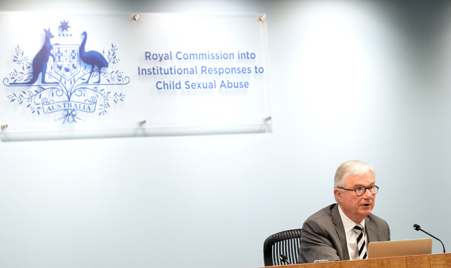Justice Peter McClellan during the opening remarks at the Royal Commission into Child Sexual Abuse Public hearing into the Criminal Justice Issues in Sydney
