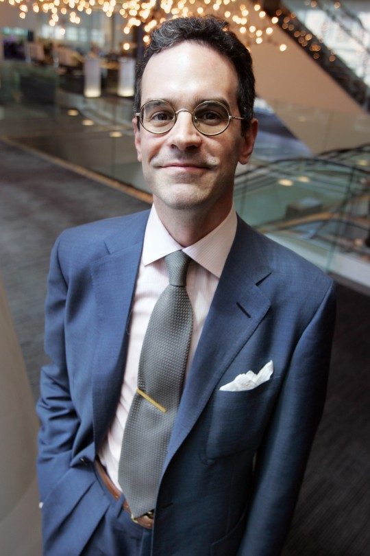 UNITED STATES - MAY 23:  Author of the book, ?The Suit: A Machiavellian Approach to Men's Style?, Michael Anton, a.k.a. Nicholas Antongiavanni, poses in New York, Tuesday, May 23, 2006.  (Photo by Andrew Harrer/Bloomberg via Getty Images)