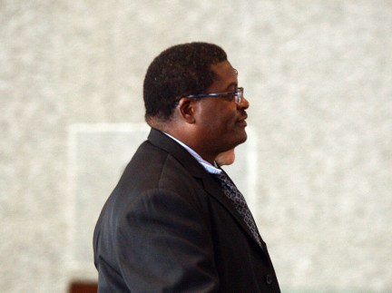 Chicago Wednesday 10-9-13 Former Chicago Police Sgt. Ronald Watts leaves the Dirksen Federal Building after receiving a 22 month sentence for his role in an FBI undercover sting Wednesday afternoon 10-9-13. Kevin Tanaka/Chicago Sun-Times