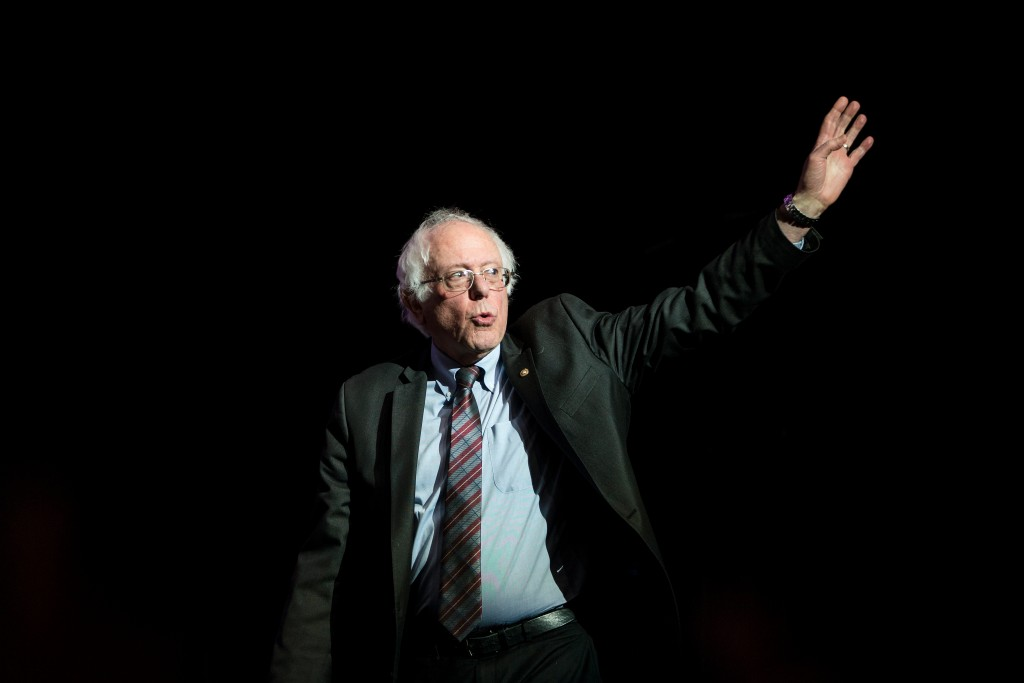 BOSTON, MA - MARCH 31: Former Presidential candidate Senator Bernie Sanders (I-VT) waves as he takes the stage at the Our Revolution Massachusetts Rally at the Orpheum Theatre on March 31, 2017 in Boston, Massachusetts. (Photo by Scott Eisen/Getty Images)