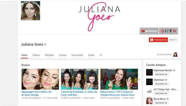 Canal Youtube - Juliana Goes
