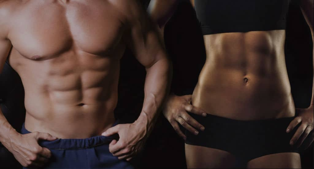 Abdômen trincado com exercícios abdominais