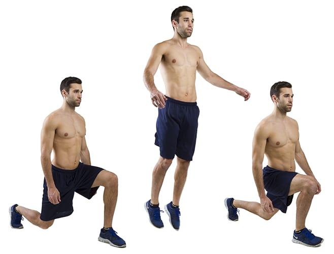 lunges com salto - treinamento funcional