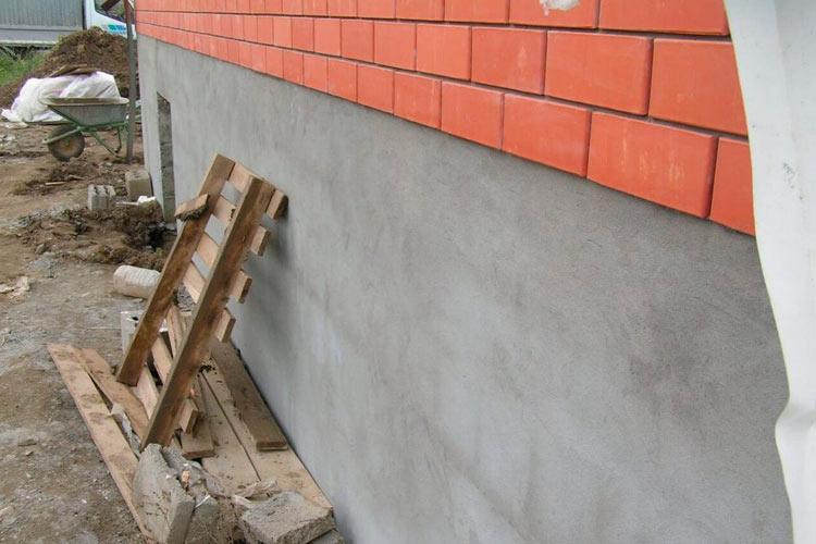 Штукатурка фундамента цементным раствором литиевые пропитки для бетона купить в спб
