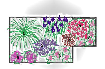 угловой цветник