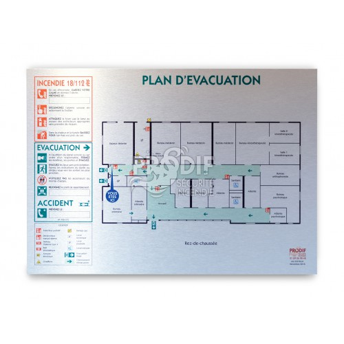 plan evacuation a2 alu dibond 3mm prodif