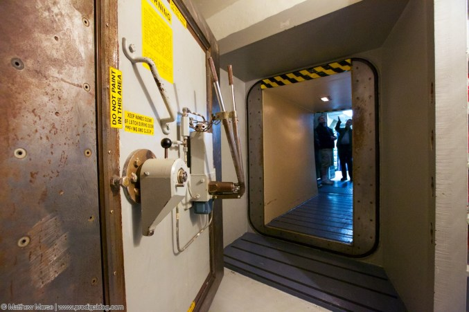 This blast door was designed to protect the underground bunker and control center from an enemy missile strike