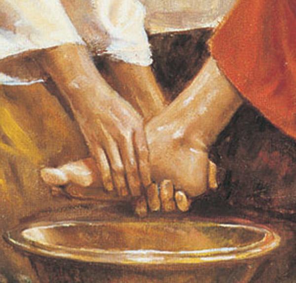 Washing feet 1