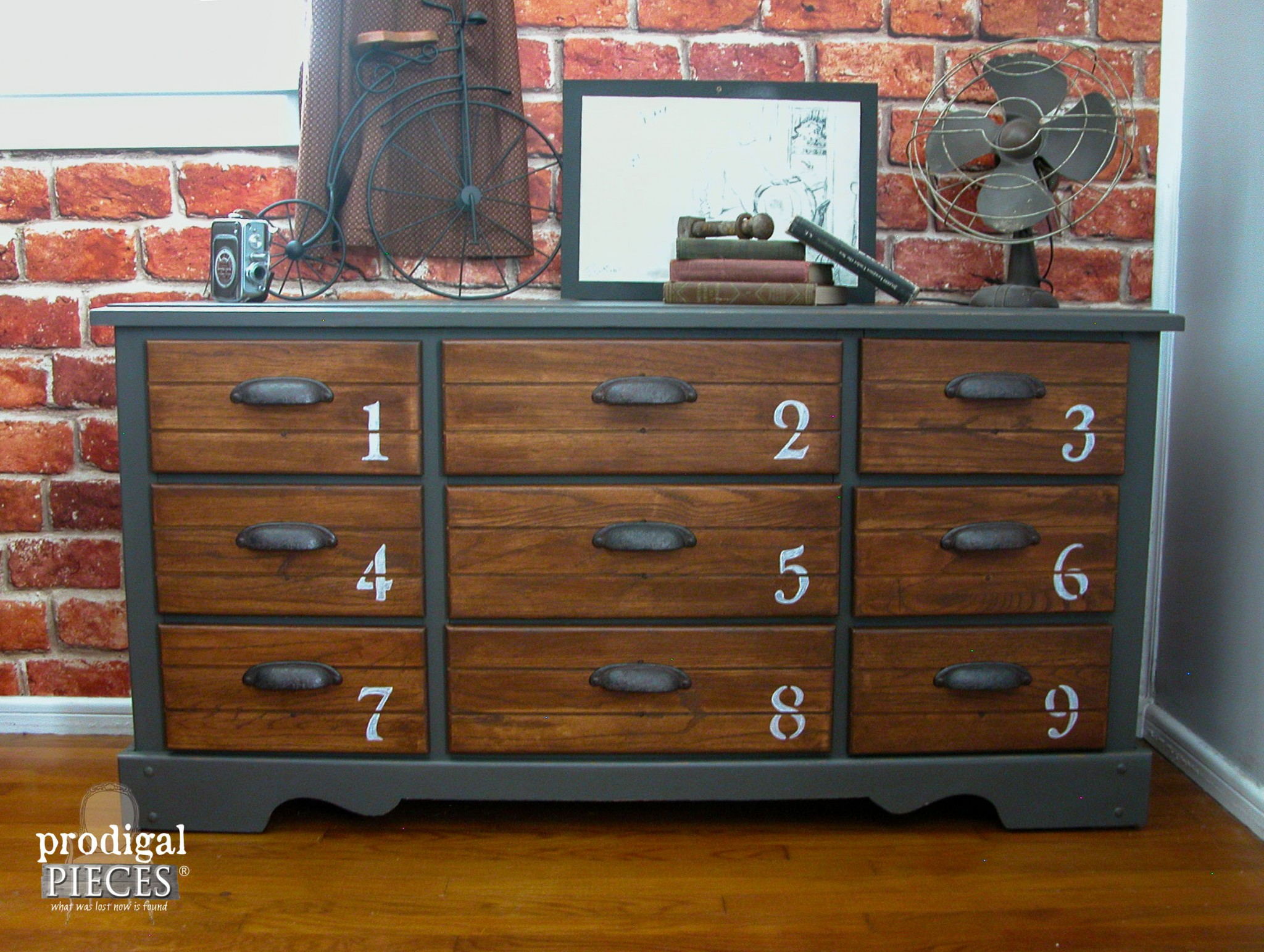 Vintage Dresser Features Industrial Vibe