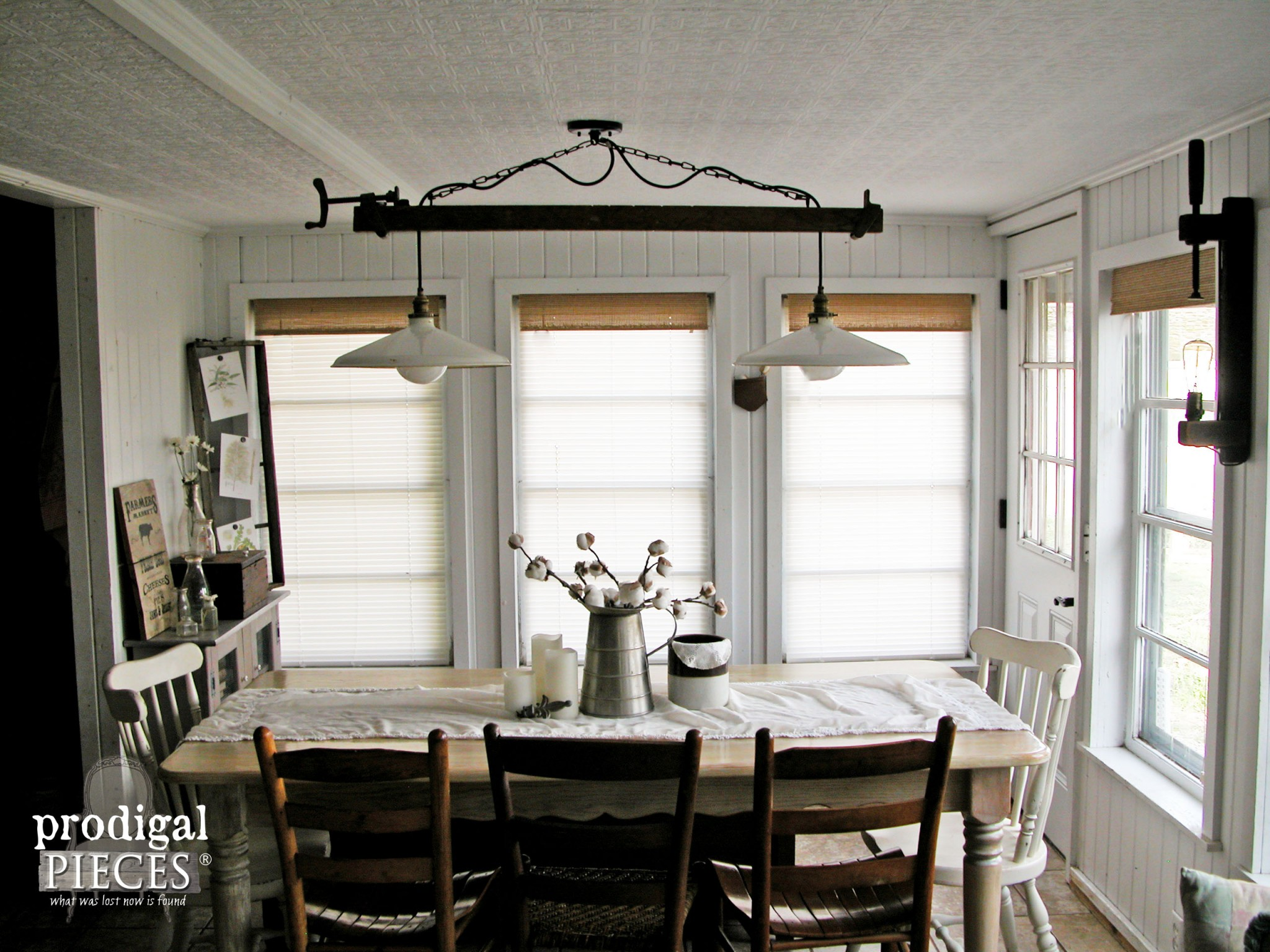 diy farmhouse lighting kitchen