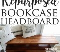 Repurposed Bookcase Headboard Bench Prodigal Pieces