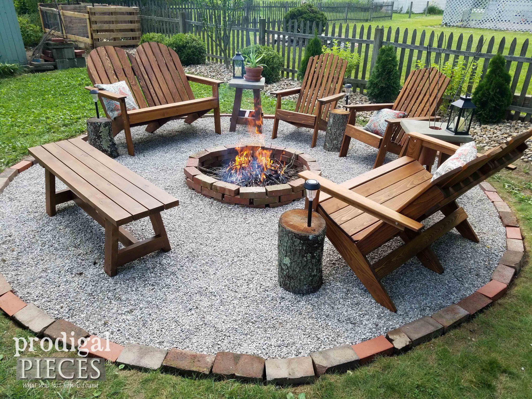 DIY Fire Pit ~ Backyard Budget Decor - Prodigal Pieces on Backyard Fire Pit Ideas Diy id=48147