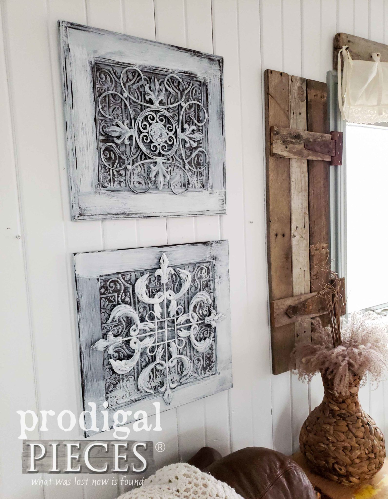 farmhouse wall decor from upcycled